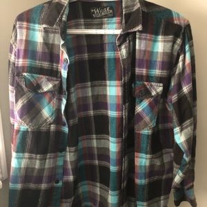 West 49 plaid button up